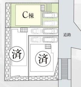 閑静な住宅街に最終一棟の販売です。 カースペース並列2台可能。