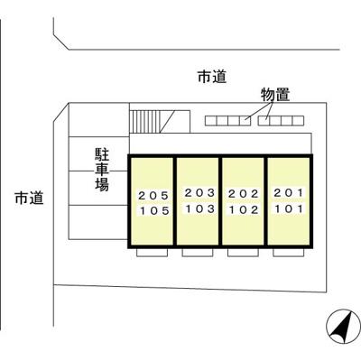【区画図】ハピネス館向