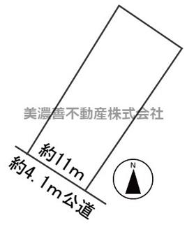 【区画図】57035 羽島郡笠松町字友楽町土地