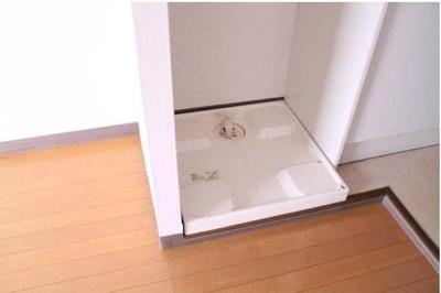 洗濯機置き場は室内あります