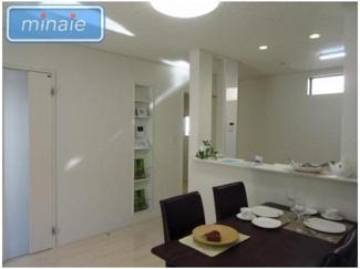 【キッチン】WIC 玄関物入 新築戸建 西水元1丁目 全3区画 3号棟