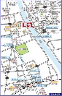 【地図】WIC 玄関物入 新築戸建 西水元1丁目 全3区画 3号棟