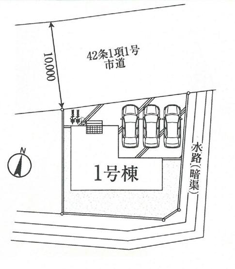 【区画図】富岡市内匠20-1期 1号棟/LIGNAGE