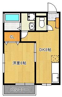 2009年築。角部屋1DK賃貸アパート。