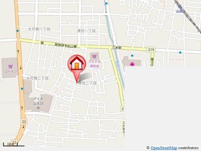 【地図】D-room清住Ⅱ
