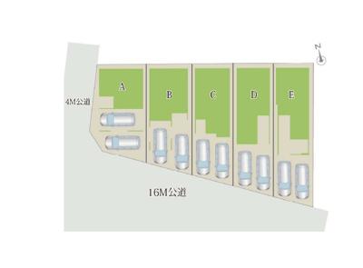 【区画図】MELDIA 天白区福池2丁目【仲介料手数料無料!】野並小・南天白中 新築一戸建て