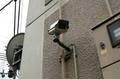 防犯カメラが24時間監視中