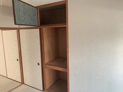和室の収納です。たくさんの物が収納できます。