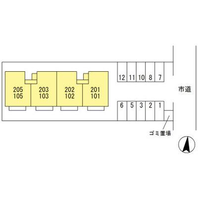 【区画図】ヴィラ 弐番館