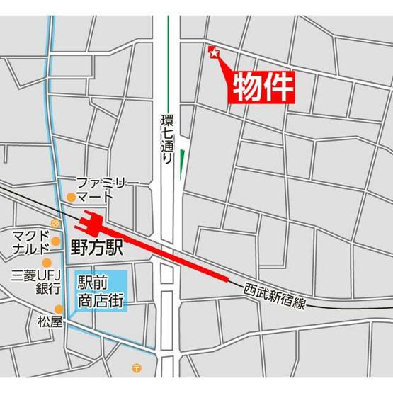 【地図】アンベリール野方