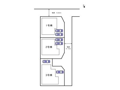 【区画図】姫路市下手野 第7/全3棟