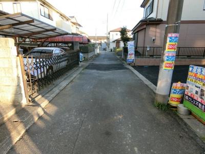 【前面道路含む現地写真】牛久市田宮第6 新築戸建