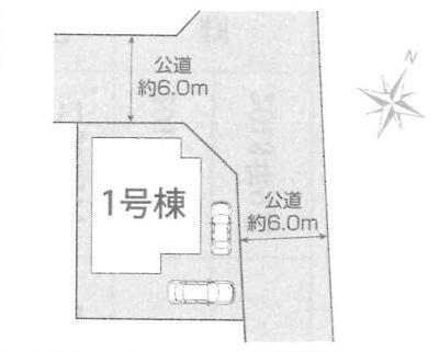 【区画図】稲敷郡阿見町本郷3丁目 新築戸建 1号棟