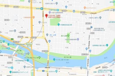 【地図】Luxe天神橋