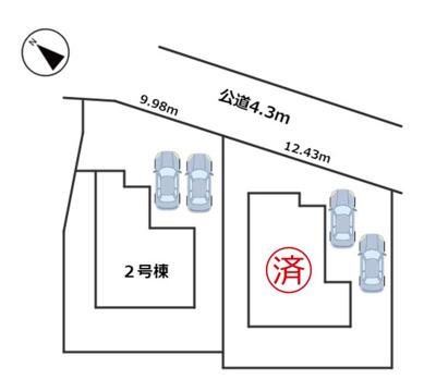 【区画図】LIGNAGE 名古屋市緑区桶狭間神明20-1期