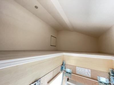 キッズスペースや趣味の部屋としても活用できる小屋裏収納があります♪