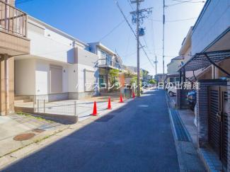 【前面道路含む現地写真】名古屋市千種区東千種台923【仲介料無料】新築一戸建て