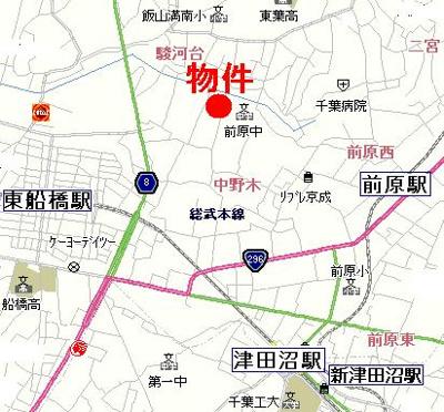 【地図】ジュネス・ハザマ