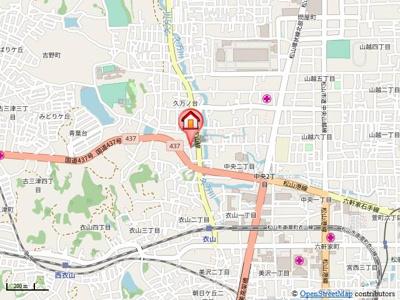 【地図】セジュール久万ノ台・