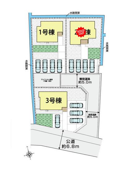 【区画図】甲府市桜井町 新築分譲住宅 3号棟
