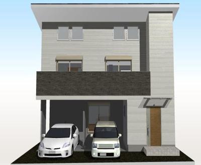 【外観】高知県高知市鏡川町(南棟) 新築住宅
