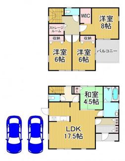 川西市南花屋敷4丁目4-6 3号棟 新築一戸建て