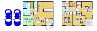 川西市南花屋敷4丁目4の6 1号棟 新築一戸建て