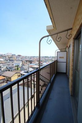 【バルコニー】サングレイスかしわ台壱番館 最上階5階 3LDK〈リフォーム済みマンション〉
