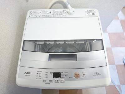 洗濯機付いてます。