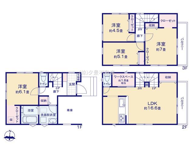 【区画図】上青木2丁目16-17(2号棟)新築一戸建てリーブルガーデン