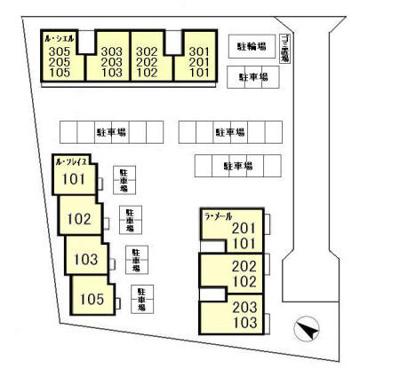 【区画図】ル・シエル、ラ・メール、ル・ソレイユ ラ・メール