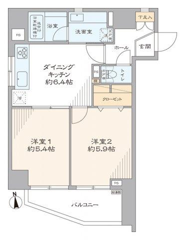 ワコーレ・ルミエール三ノ輪:南向き角部屋につき陽当り・通風良好な2DKエアコン付きリノベーション物件です!