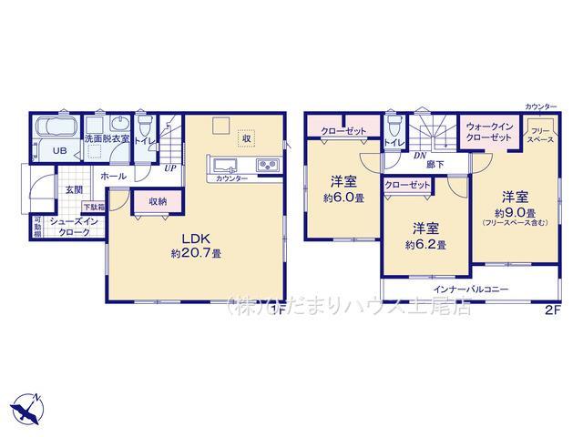 上尾市平方領々家 20-2期 新築一戸建て リナージュ 01