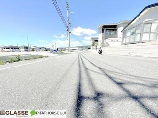 【前面道路含む現地写真】木津川市城山台7丁目 売土地