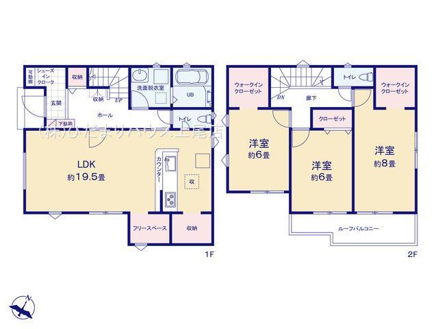 【区画図】桶川市上日出谷 21-1期 新築一戸建て リナージュ 01