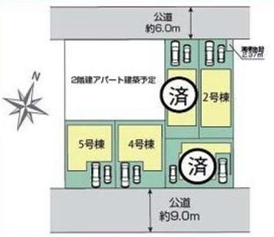 【区画図】新築戸建て 川口市長蔵2丁目