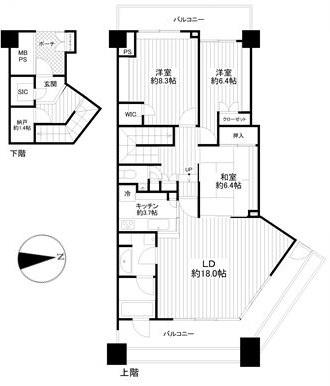 大森プロストシティレジデンス:最上階につき眺望良好!希少なメゾネットタイプの3LDKリフォーム物件です!