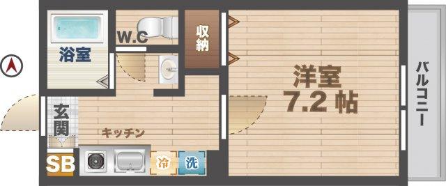 1Kのお部屋。