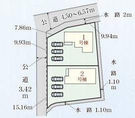 岐阜市野一色新築建売全2棟 敷地面積ゆとりの71坪!お車スペース3台以上可能!インナーバルコニー付き