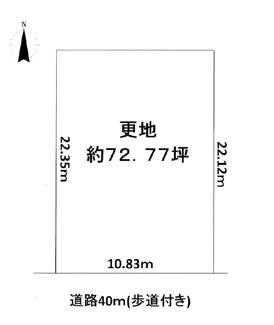 【土地図】木津川市州見台4丁目 売土地
