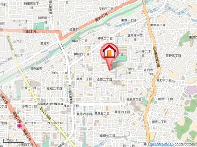 【地図】桑原マンション・