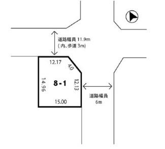 【土地図】木津川市州見台8丁目 売土地