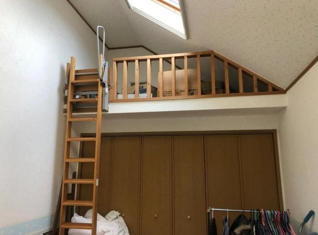 空間を有効活用した小屋裏収納(*^-^*)