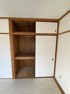 天袋付の専用の収納スペースです