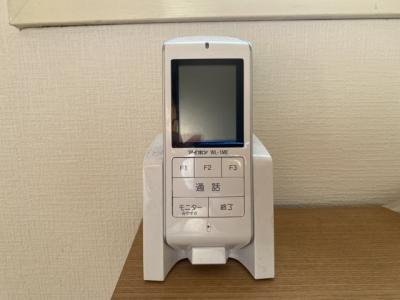 持ち運び可能なモニター付きインターフォンです