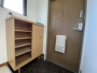 靴箱もあり、棚上には鍵や芳香剤などちょっとしたものも置ける位置と高さです♪