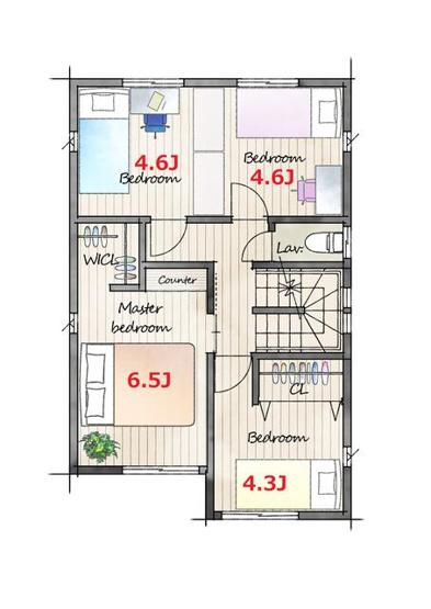 使い易い広めのLDKで各部屋も安らぎをもたらすプライベート空間です♪