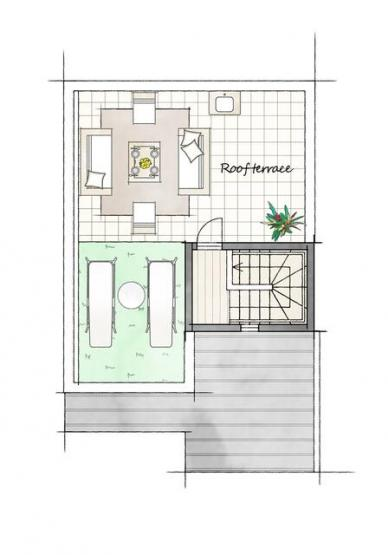 3階部分はルーフテラスになっています。たっぷりとしたスペースは使い方自由です!