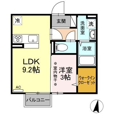 【区画図】(仮)D-room新田木崎町