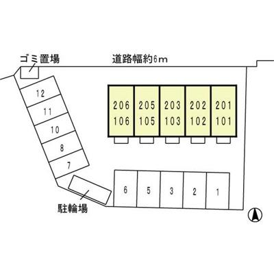 【区画図】カンパーニュ黒岡 Ⅱ